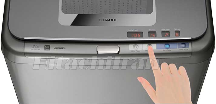 4 دکمه کنترلی در بالای ماشین لباسشویی
